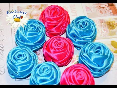 Мастер-класс по созданию розы из ленты (handmade ribbon rose)