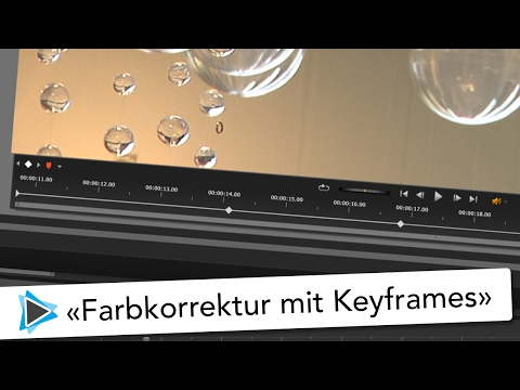 Farbkorrektur mit Keyframes Pinnacle Studio 20 Deutsch Video Tutorial