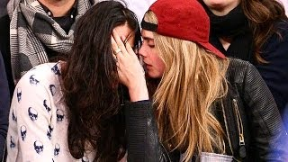 Michelle Rodriguez Makes Out With Cara Delevinge