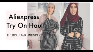 Aliexpress Try On Haul // IS THIS HIJAAB FRIENDLY?!