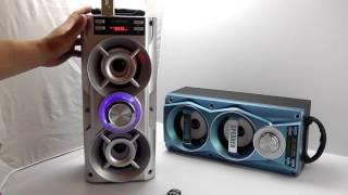 ОБЗОР: Мощная Портативная Стерео Bluetooth Колонка с FM Радио, MP3 и Пультом Управления