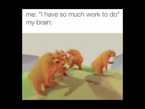 When You Have So Much Work To Do But Your Brain Is Like..