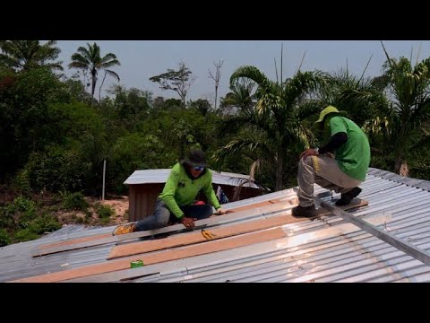 Solar panels shine in remote Amazon communities