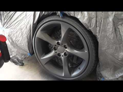 Plasti dip wheels with graphite metalizer