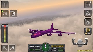 Flight Sim 2018 #16 - Purple Airplane Unlocked - Airplane Simulator - Best Android Gameplay