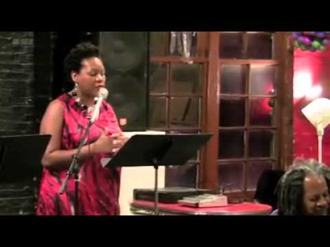 Treasure Williams reading with Nkenya Zimbabwe at the Floating Labs space in St. Louis
