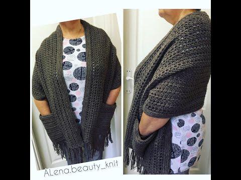 Оригинальный шарф крючком схемы и описание