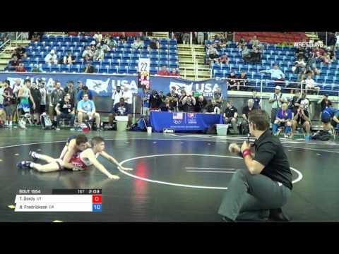 Junior GR 106 Consi Of 8 #2 - Thomas Gordy (UT) Vs. Blake Fredrickson (CA)