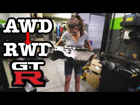 Cutting off the RB26 Front Diff  S13 GTR Build