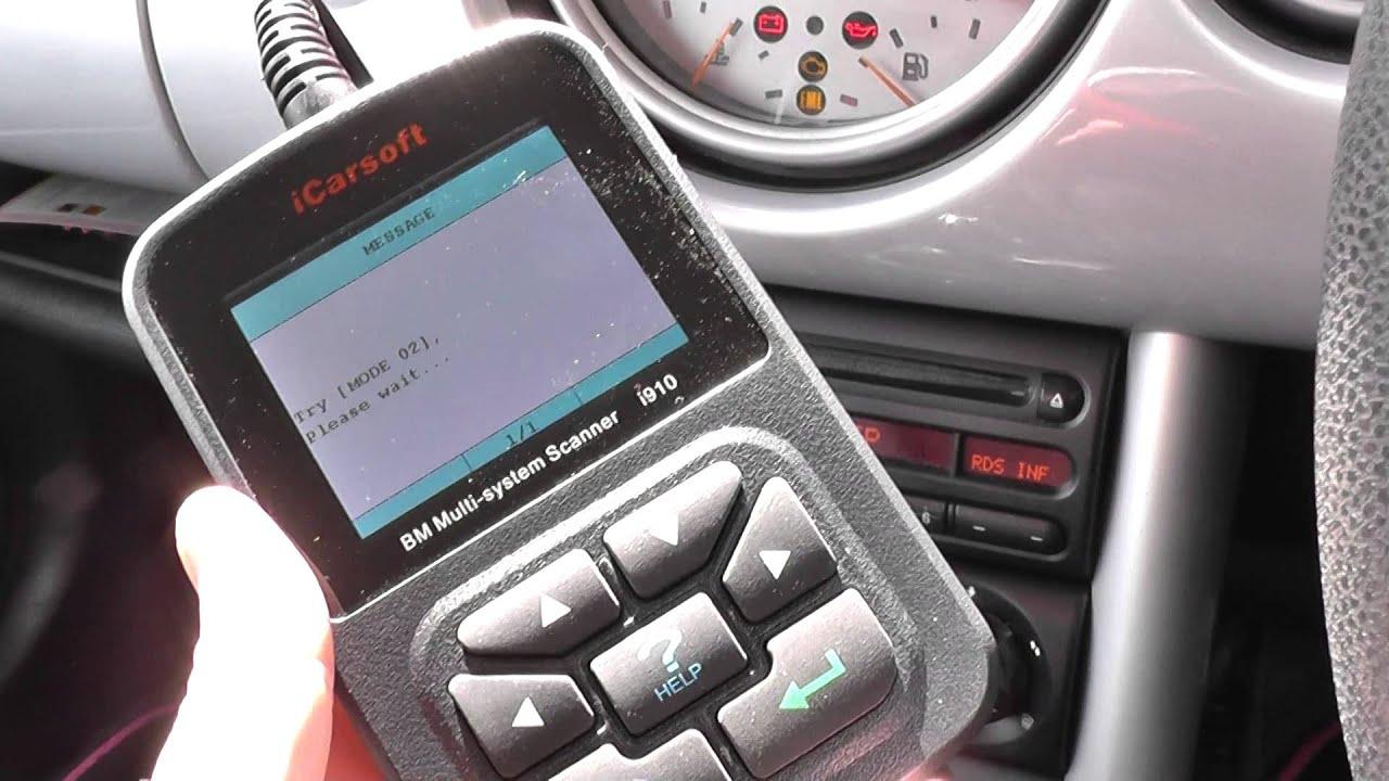 mini engine warning light fault diagnose with icarsoft i910 youtube rh youtube com