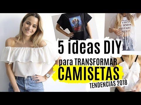 5 ideas DIY para transformar camisetas   TENDENCIAS 2018