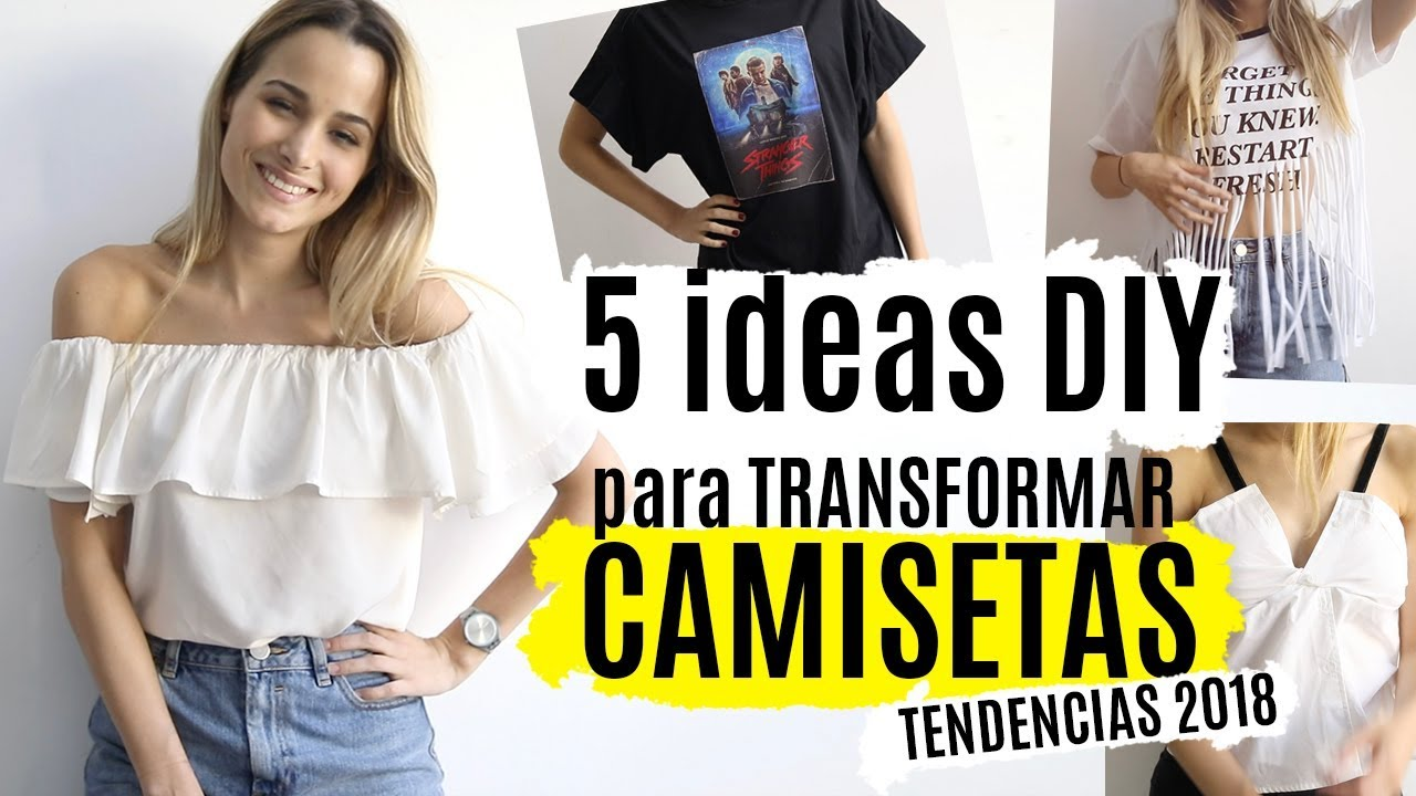 7842c92312 5 ideas DIY para transformar camisetas