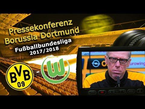 Borussia Dortmund - VfL Wolfsburg: Pk mit Peter Stöger