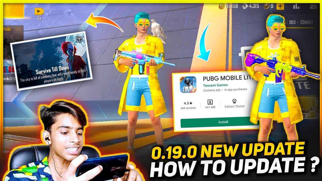 PUBG MOBILE LITE 0.19.0 NEW UPDATE - HOW TO UPDATE ? | NEW ZOMBIE MODE | PUBG LITE NEW UPDATE