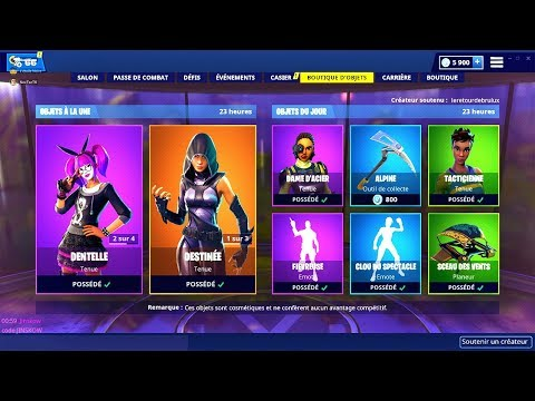 BOUTIQUE FORTNITE du 26 Fevrier 2019 ! ITEM SHOP February 26 2019
