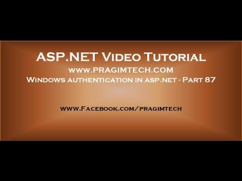 Windows authentication in asp.net   Part 87