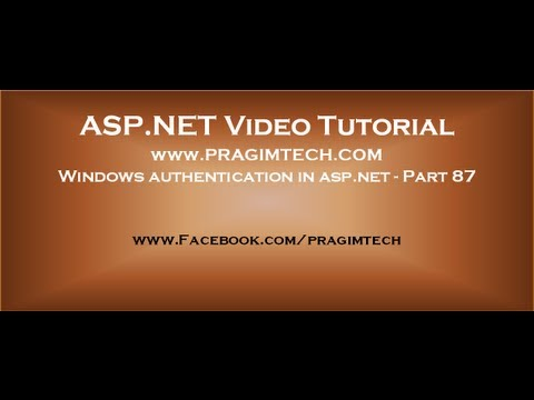 Windows authentication in asp.net   Part 87
