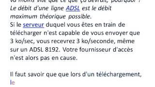 ADSL   Tester la vitesse de connexion internet test de débit)