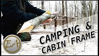 3 Day WINTER CAMP & MINI BUSHCRAFT CABIN Framework Build