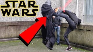 EXTREME STAR WARS PRANK AT SCHOOL! (ANGRY GUY ATTACKS US!)