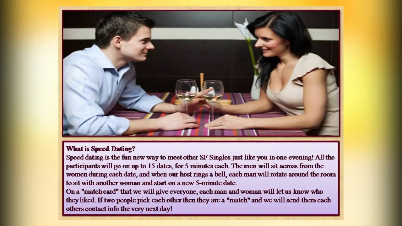 Speed dating events in san francisco