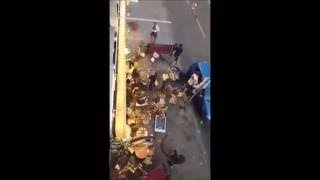Hammarby attacks AIK pub after the game. 24.07.2016