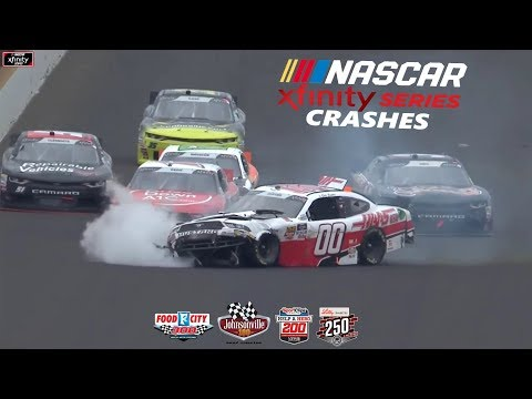 2018 NASCAR Xfinity Series Crashes (Bristol-Indianapolis)
