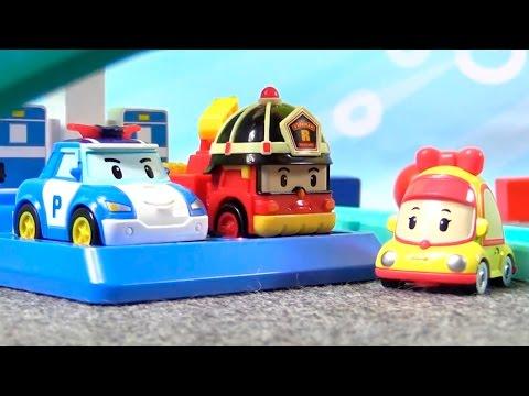 Мультфильм из игрушек Робокар Поли. Пожарная Машина в Кидбург