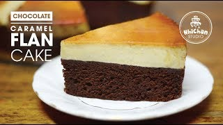 How to make Flan Chocolate Caramel Cake | Cách làm Bánh Flan Chocolate Caramel | Nhi Chan
