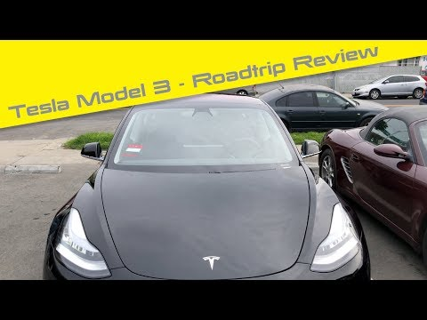 Tesla Model 3 - Epic Road trip review made it to San Francisco