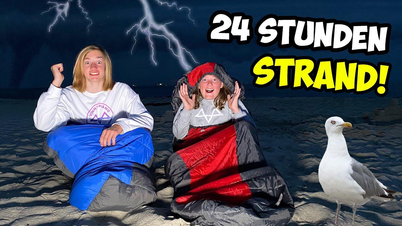 24 STUNDEN am STRAND CHALLENGE! (UNWETTER kommt...)
