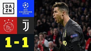 Cristiano Ronaldo beschert gute Ausgangslage: Ajax - Juventus 1:1 | UEFA Champions League | DAZN