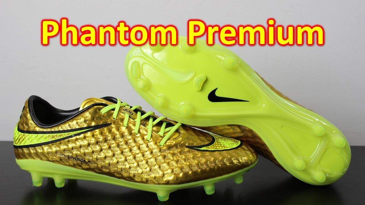 3af0750b4f4d Neymar Nike Hypervenom Phantom Premium Metallic Gold Coin/Volt - Unboxing +  On Feet