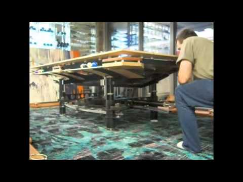 Earthu0027s Coolest Combination Pool Table / Poker Table And Ping Pong Table!    YouTube