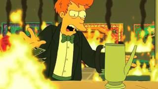 Fry's 300th cup of coffee (Futurama - 300 Big Boys)