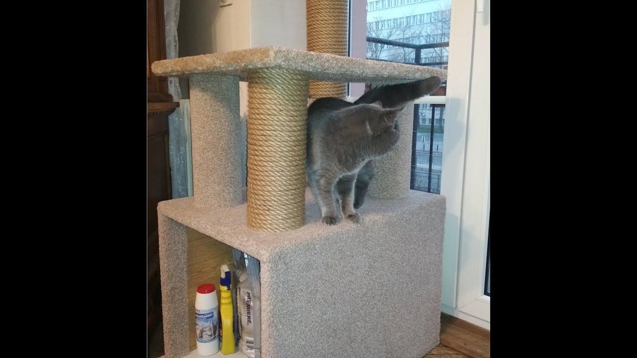 Jak Zrobić Stabilny Drapak Dla Kota Część 2 Diy How To Build Cat Tree Youtube