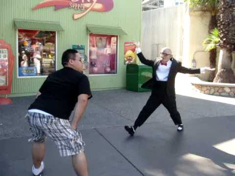 Danny dances vs. Six Flags Guy
