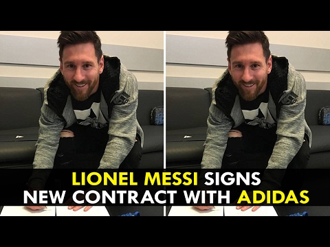 Lionel Messi signs new contract with Adidas