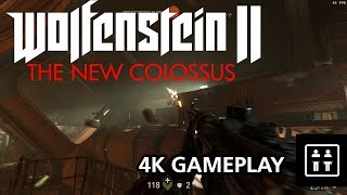 Wolfenstein II: The New Colossus (PC) - 4K Gameplay (Max Settings)
