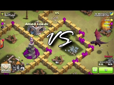 Clash of Clans Wizard Tower Vs. Dragon