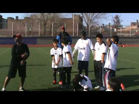 Soccer clinic Monroe College to South Bronx United