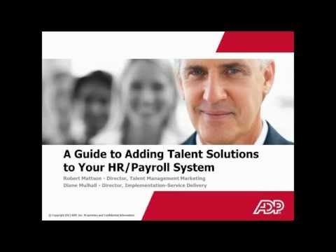 A Guided Tour to Adding Talent Management to your HR Systems