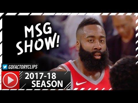 James Harden Full PS Highlights vs Knicks (2017.10.09) - 36 Pts, 9 Reb, 11 Ast!