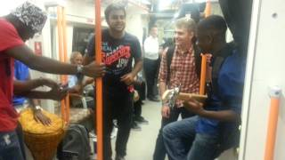 Super random talented freestyle singing and rapping on London underground 2014