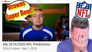 REACTING TO MY 2019-2020 NFL PREDICTIONS!