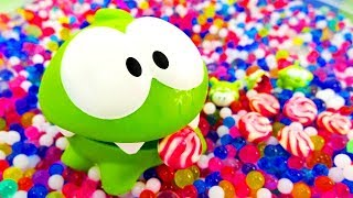 Om Nom & Surprise Eggs. Video for kids with toys.