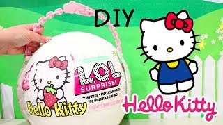LOL Big Surprise CUSTOM Ball Hello Kitty DIY ! Toys and Dolls Fun for Kids with Blind Bags | SWTAD