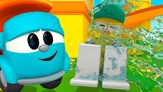 Leo Junior baut eine Waschanlage. Deutsche Zeichentrickfilme für Kinder