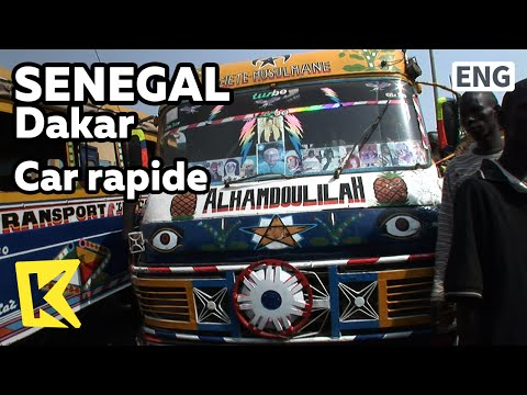【K】Senegal Travel-Dakar[세네갈 여행-다카르]화려한 버스, 카 라피데/Car rapide/Car/Bus/Terminal