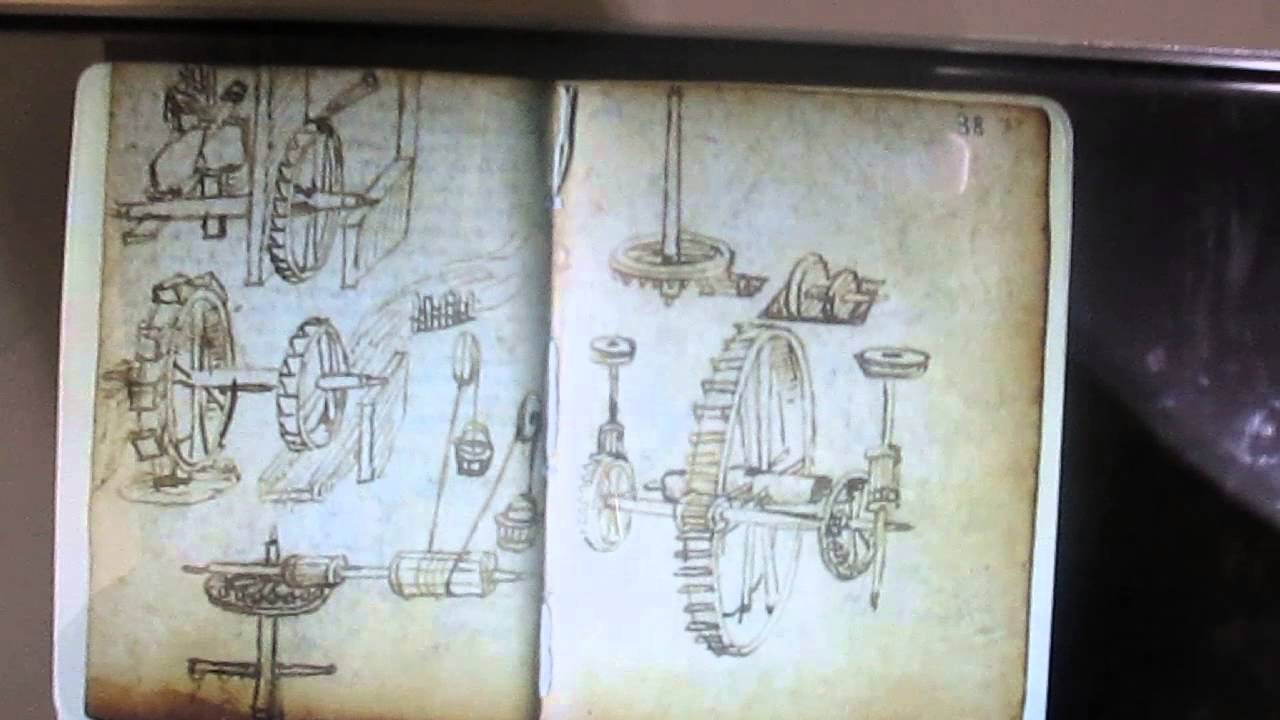 Leonardo Da Vinci Cuaderno Original (escaneado) - YouTube